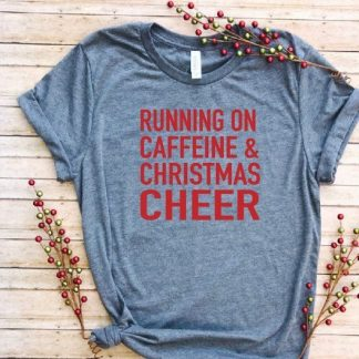 running on Caffeine Xmas t