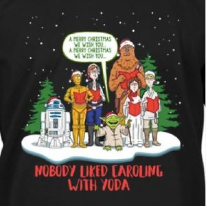 Carolling with Yoda Close up