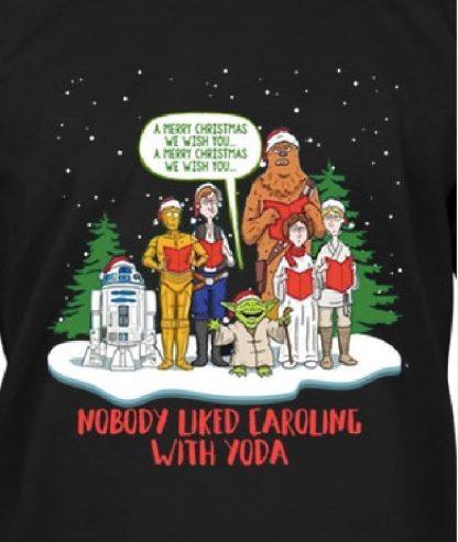 Carolling with Yoda Close up
