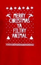Merry Christmas filthy animal red