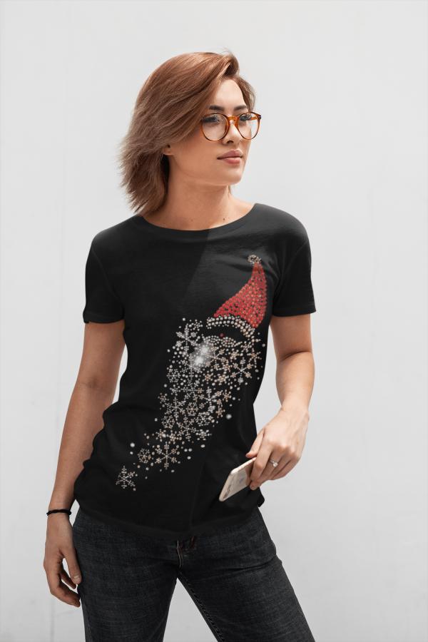 santa Hat Black Shirt