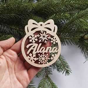 Personalised Laser cut tree decoration