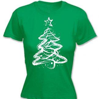 White Xmas Tree T shirt