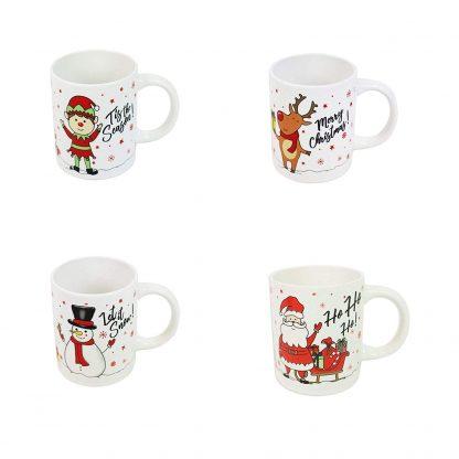 Set of 4 Xmas Mugs