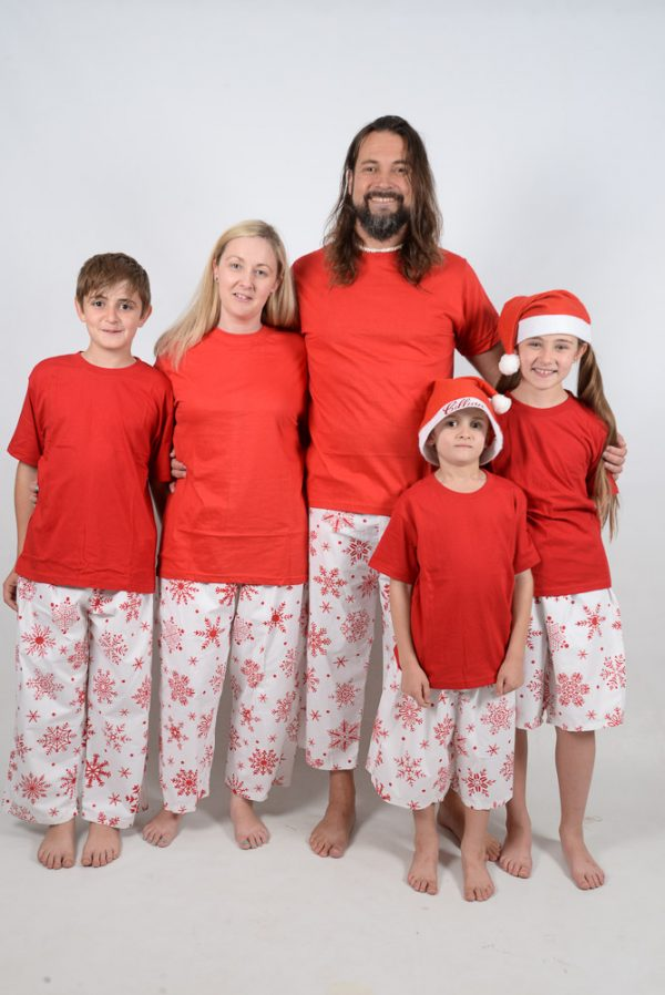 Red and Red Snowflake Jammies 2