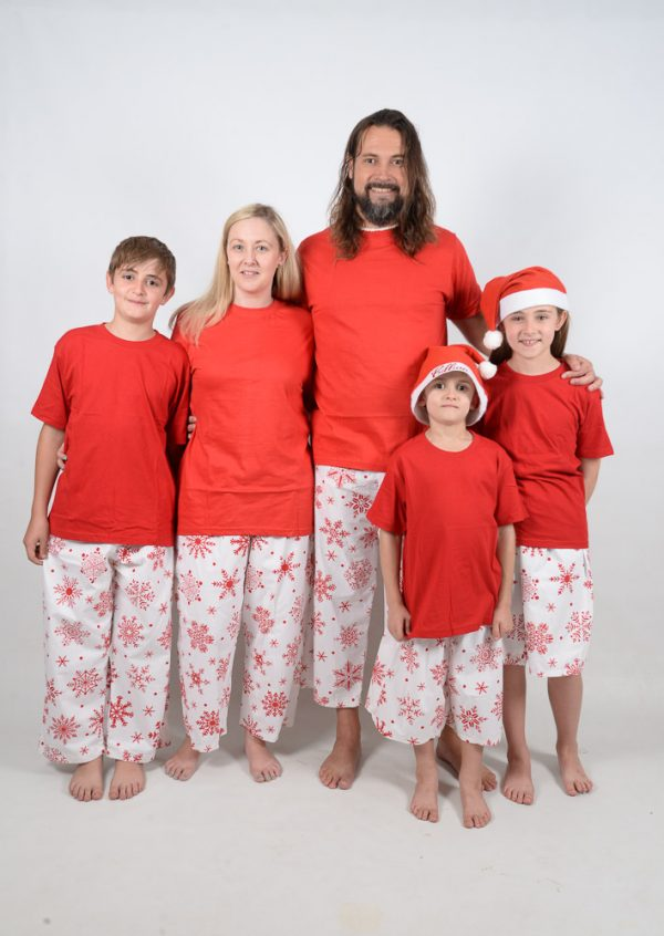 Red and Red Snowflake Jammies
