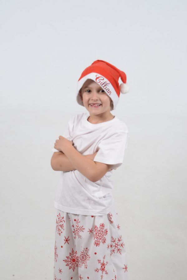 White and Red Snowflake Jammies Kid 2