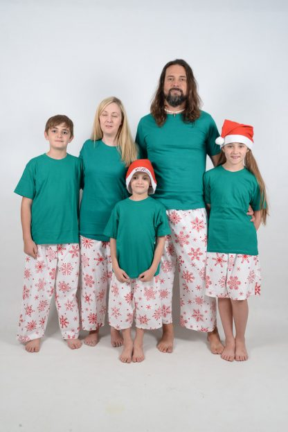 Green and Red Snowflake Jammies 2
