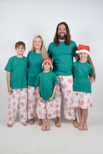 Green and Red Snowflake Jammies