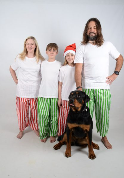 Green, Red and White Stripes Jammies 11
