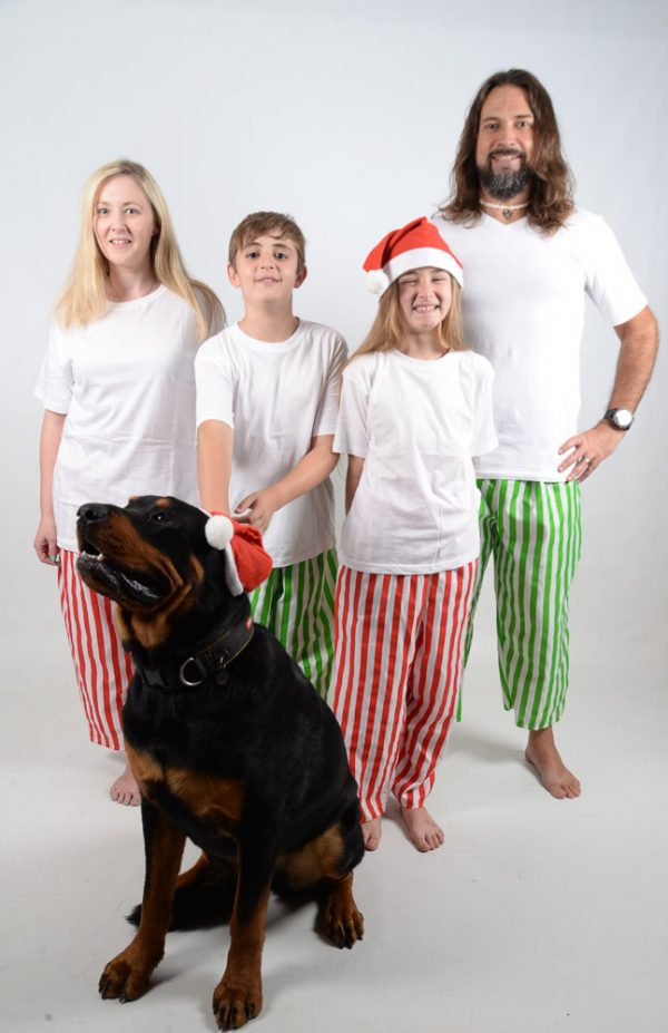 Green, Red and White Stripes Jammies 8