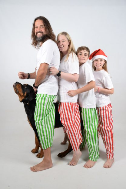 Green, Red and White Stripes Jammies 4