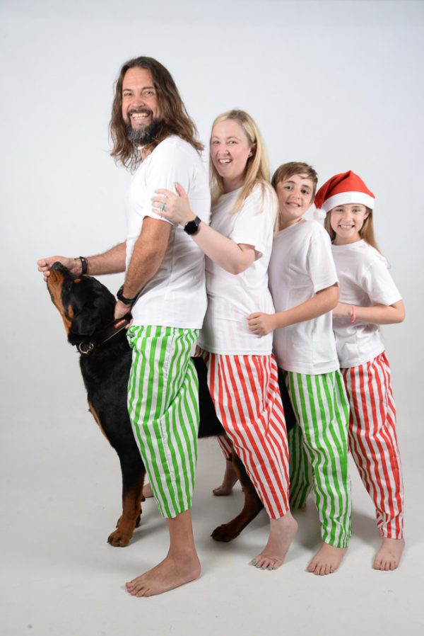 Green, Red and White Stripes Jammies 2