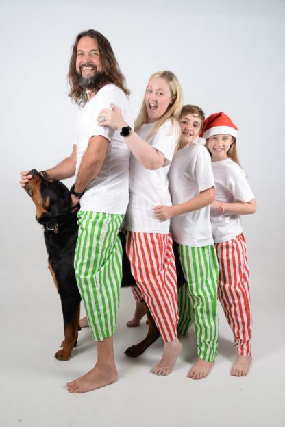 Green, Red and White Stripes Jammies