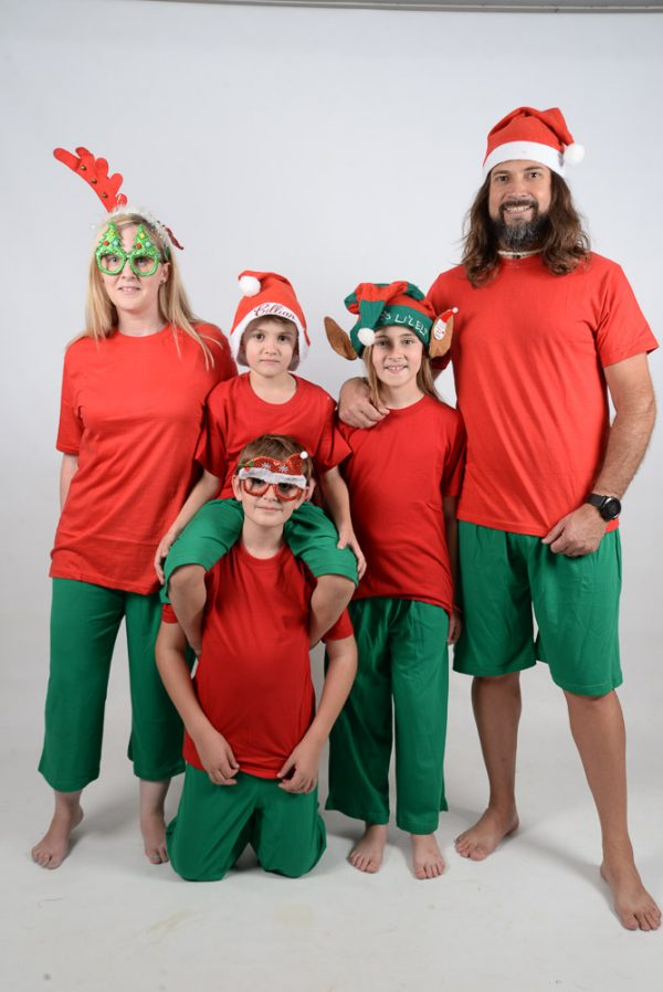 Family Xmas Red and Green Jammies 2