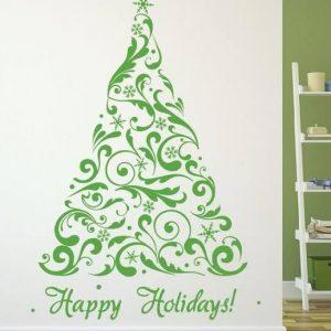Christmas Tree Vinyl Sticker