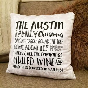 Name Chirstmas Cushion
