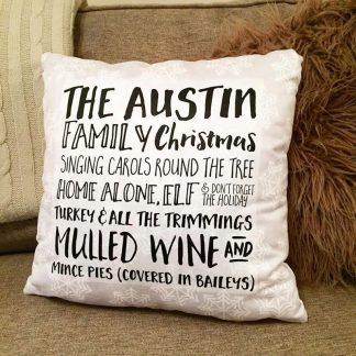 Name Chirstmas Cushion