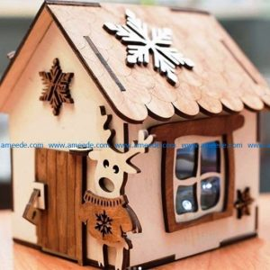 Elf House Wood Reindeer