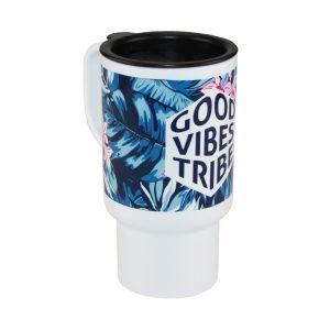 Travel mug polymer design